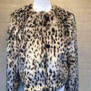 J.Crew $278 Cropped Faux Fur Coat in Snow J6148
